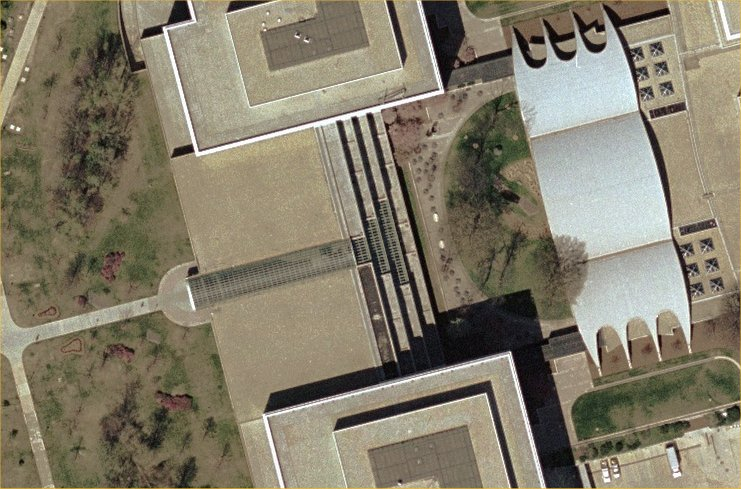 Aerial Photo of Kryptos pieces